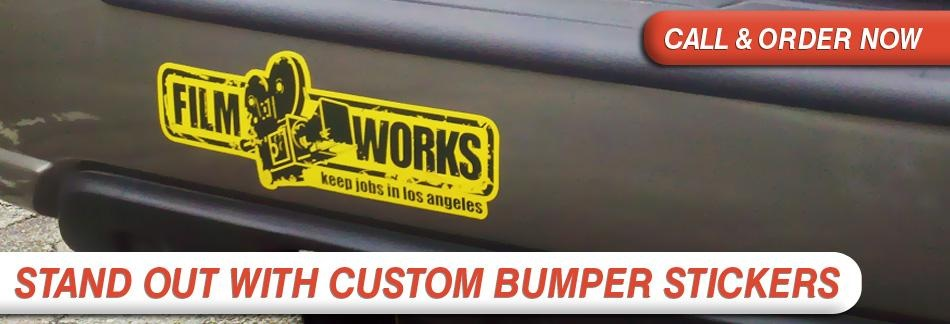 Bumper stickers from signarama are a great way to promote a business raise awareness for a cause or just share your views with other drivers on the road