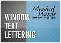 Window Text Lettering