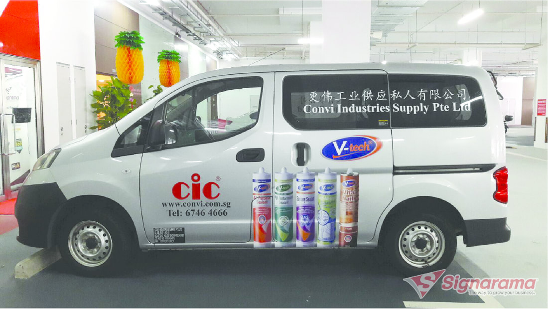 Van graphics and decals. Promote your brand 24 x 7